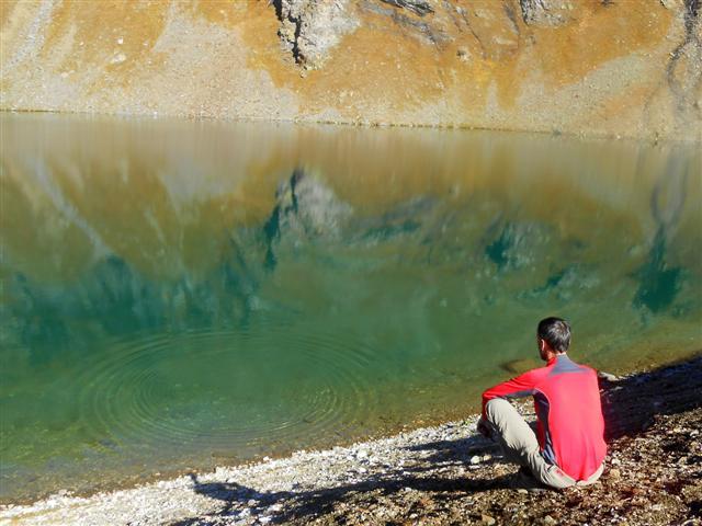 les truites du Lac Noir : un rond dans l'eau !